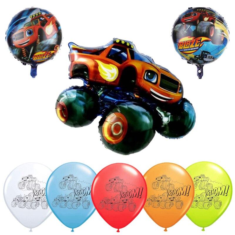 Блейзер с рисунком монстра и Фольга воздушные шары в виде героев мультфильмов, спортивный автомобиль латексные шары на день рождения банне...