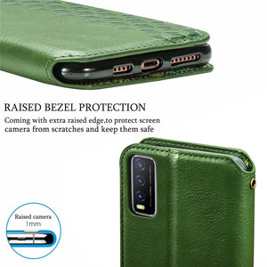 Image 5 - Leather Texture Magnet Book Shell for Vivo Y20 2020 Luxury Case Vivo Y20S Y20i Y 20 S 20S Y11S Y12S Flip Cover Funda Shockproof