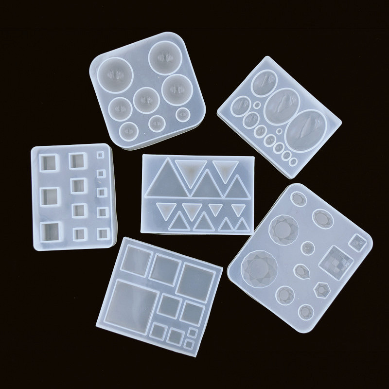 Cute Beads Cube Triangle Silicone Mold For Jewelry Making Resin Jewelry Tool UV Epoxy Resin Molds Decorative Crafts