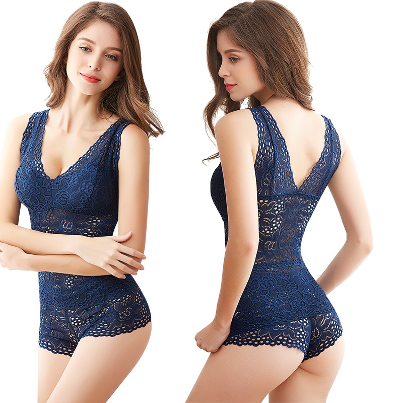 Women Push Up Seamless Embroidery Bra Lace Sexy Bra Set Wire Free Lingerie Transparent Female Underwear Set