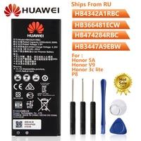 Bateria do telefone original hb4342a1rbc para huawei honra 5a 4a y5ii ascend 5 + y6 honra 9i p9 lite nova lite p8 honra 3c lite g521 y5