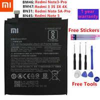 Xiao mi originale Batteria Del Telefono Per Xiao mi rosso mi 3 3S 3X 4X 4A 3 pro 5 più nota 3 4 4X5 5A Pro mi 5 mi 5X batterie DI Ricambio