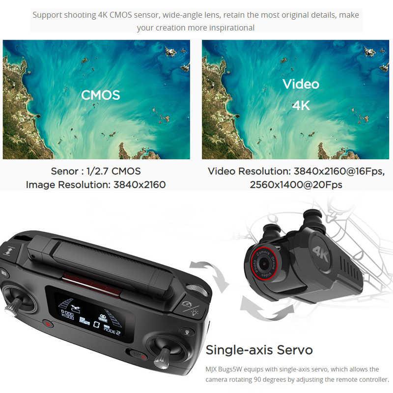 MJX B5W Drone GPS sin escobillas 5G RC Quadcopter mejorado 4K Wifi RC FPV cámara HD de retorno automático 20min Drones Juguetes
