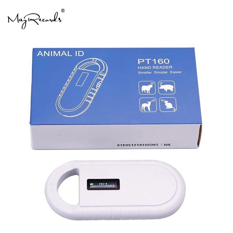 Scanner de puce d'animal familier d'iso11785/84 FDX-B, lecteur tenu dans la main de RFID de lecteur de chien de lecteur d'étiquette d'animal RFID