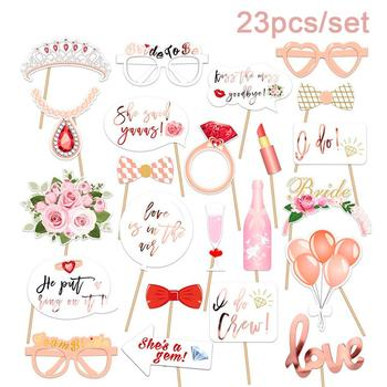 23pcs Bride To Be Team Shooting Props Wedding Lady Hen Party Bridal Shower MISS TO MRS Bachelor Supplies