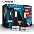 NIGHTEYE светодиодный фар автомобиля лампы 9000LM 72W фары для H1 H4 H7 H11 9005 HB3 9006 HB4 6500K белый светодиодный лампы Комплект Авто Противотуманные фары