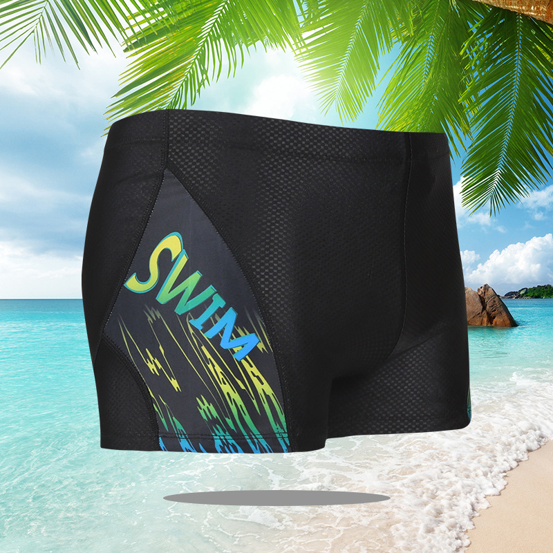 New Style Fashion MEN'S Swimming Trunks Top Grade Embossed Fabric MEN'S Swimming Trunks