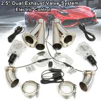 2.5Inch 63mm 12V Dual Electric Exhaust Cutout Pipe Kit with Remote Control Stainless Steel Cutout Muffler Valve System