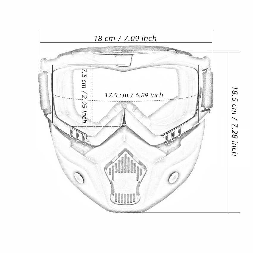 Мужские и женские лыжные маски для сноуборда, лыжные очки для снегохода, ветрозащитные защитные очки для мотокросса, защитные очки с фильтром для рта