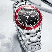 MIYOTA Mechanicalนาฬิกาผู้ชายแบรนด์หรูCarnivalอัตโนมัตินาฬิกาผู้ชายทหารRelogio Masculino Sapphireกีฬาดำน้ำ