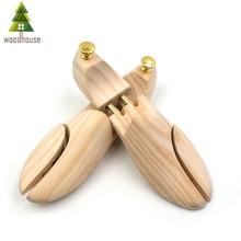 Woodhouse Mens and Womens Shoe Trees Twin Tube Adjustable New Zealand Pine Wood Shoe Tree