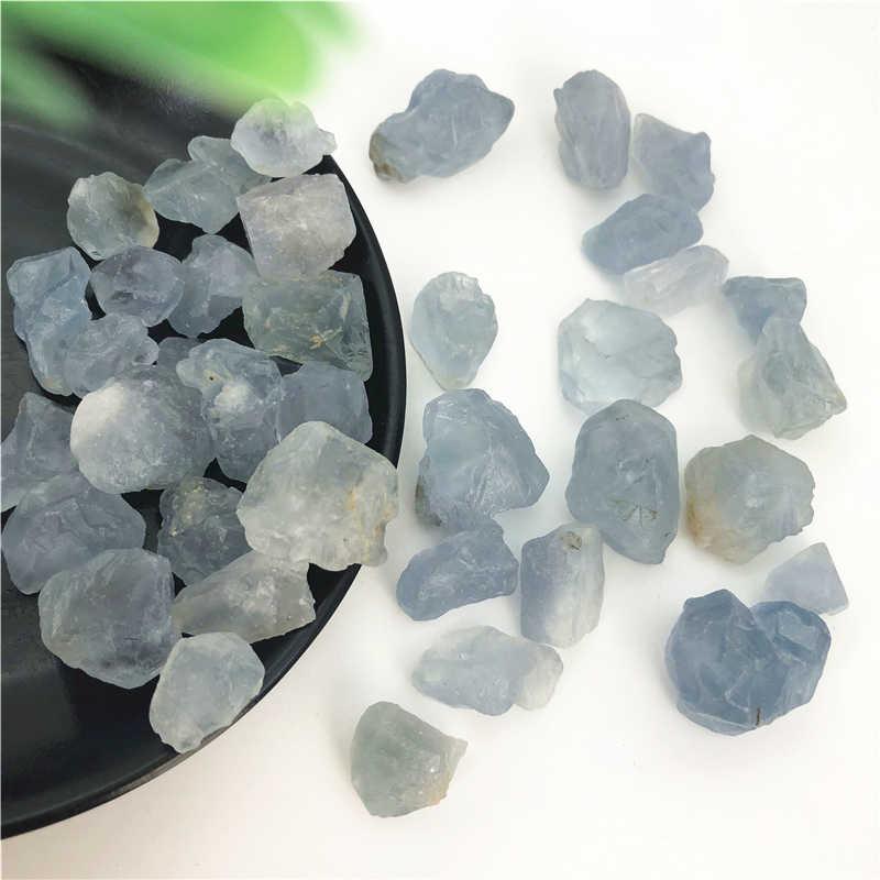 100g נדיר טבעי כחול Celestite קריסטל חצץ אבנים מחוספס אבן דגימת E291 טבעי אבנים ומינרלים