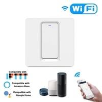 WiFi 스마트 홈 라이트 스위치 푸시 버튼 Smart Life/Tuya APP 원격 제어 벽 스위치 Alexa Google 홈  음성 C 호환