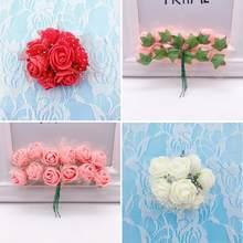 2.5 Cm 144 Stks Pe Foam Rose Kunstmatige Bloem Boeket Multicolor Bloem Valentijnsdag Rose Bruiloft L5T2