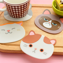Household Heat-resistant Placemat Silicone Cat Coaster Office Desk Decoration Supplies Desk Pad Kawaii Accessories