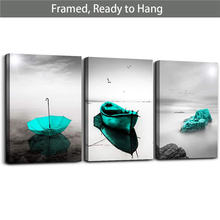 Фоторамка черный белый пейзаж настенные фотографии синий зеленый