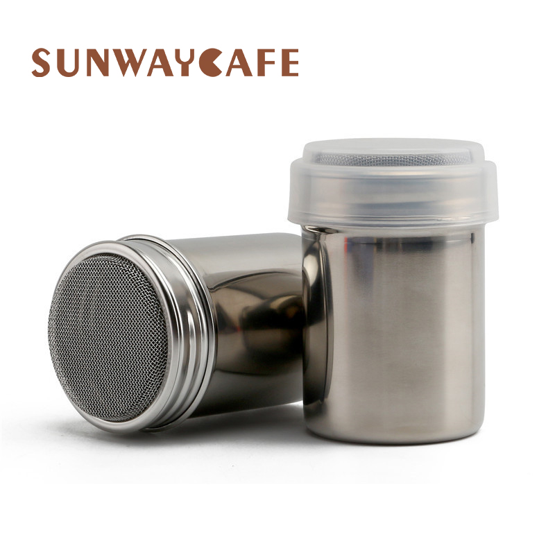 1Pc Stainless Steel Sprinkle Cocoa Cinnamon Sugar Gauze Mesh Jar Seasoning Bottle Fancy Coffee Powder Duster Pepper Shaker Can
