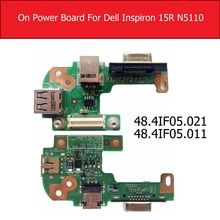 Auf/Off Power Board Für Dell Inspiron 15R N5110 mit VGA USB2.0 DQ15DN15 Power Schalter taste Jack Bord 48.4IF05.021 48.4IF05.011