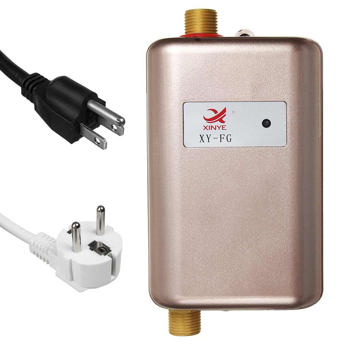3800W chauffe-eau électriques instantanés instantanés chauffe-eau de cuisine sans réservoir robinet affichage de température douche de chauffage universellement