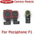 Оригинальная передняя и задняя камера для Xiaomi Mi Pocophone Poco F1 модуль камеры с основным лицом гибкий кабель запасные части
