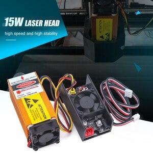 15 Вт 450нм регулируемый фокус сине-фиолетовый светильник из алюминиевого сплава лазерная головка для ЧПУ DIY резьбы гравировальный станок гра...
