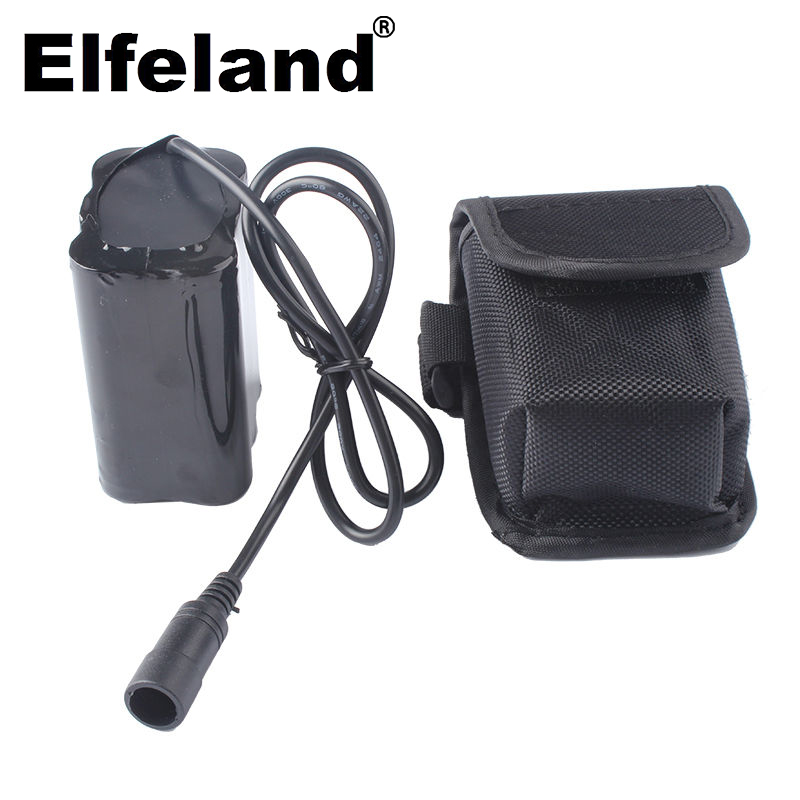 Elfeland 6x1865 0 8,4 v akku, 12800mah, für fahrrad, kopf lampe