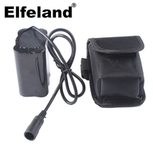 Elfeland 6x18650 8.4v rechargeable battery, 12800mah, for bicycle, head lamp