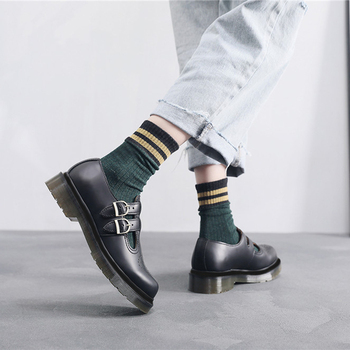 Women Boots Doc Double Strap Mary Jane DML Classic High Quality Leather Shoes Martins Ladies Fashion Casual Women Boots 2020 New