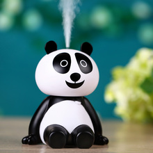 Cartoon Panda USB Air Humidifier Ultrasonic Desk Humidifiers Mist Maker Fogger Mini Portable Air Purifier 120ml цена и фото