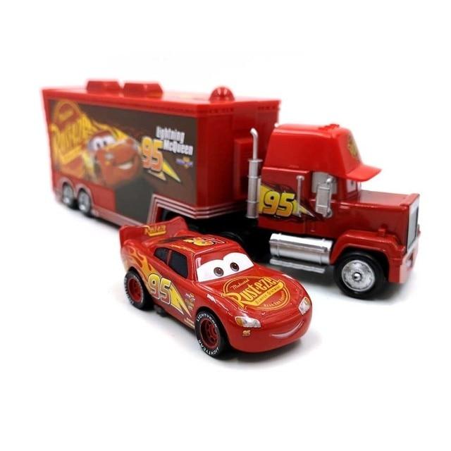Voitures Disney Pixar 3 foudre Mcqueen Jackson tempête Mack Uncletruck 1:55 métal moulé sous pression voiture jouets enfants anniversaire cadeau de noël