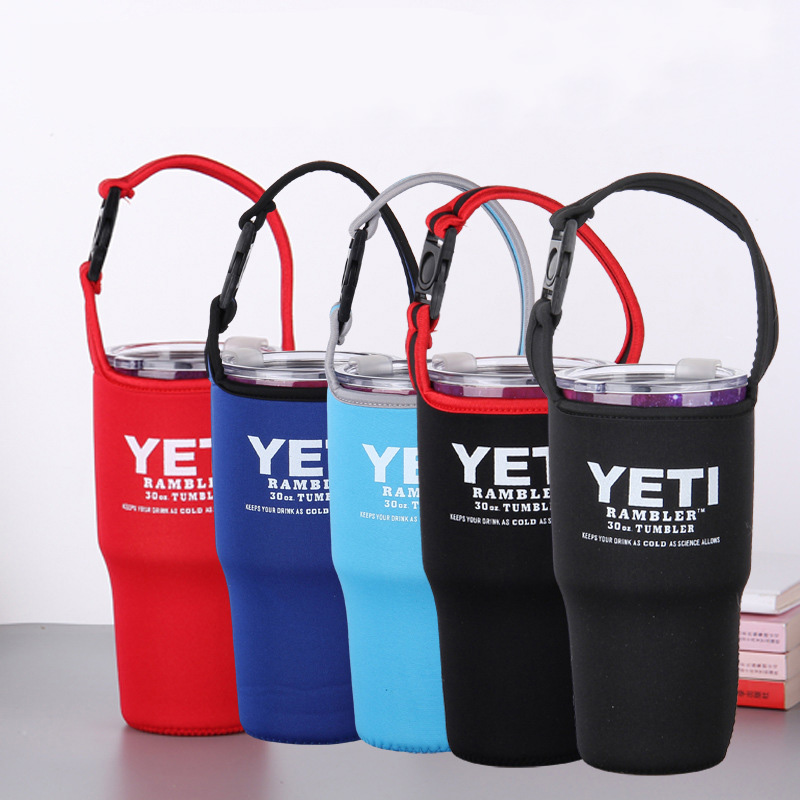 2pcs 30oz Rambler Cup Tumbler Water Bottle Carrier Sleeve Cover with Strap