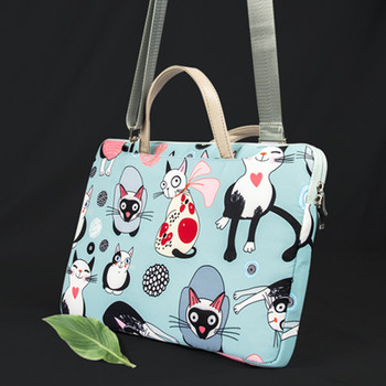 Cute Cat Laptop Sleeve Bag For HP 2018 ENVY X360 13 AD100TU Spectre Pavilion 13.3 Laptop 14 15.6 Inch Notebook Pouch Bags image