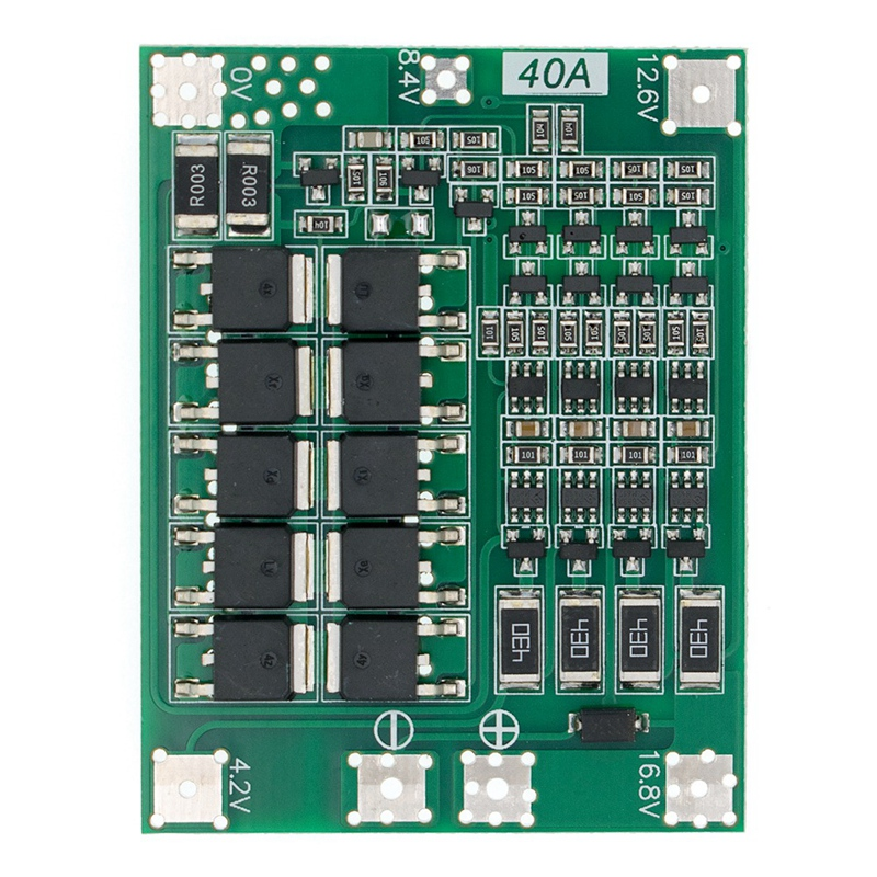 <font><b>4S</b></font> <font><b>40A</b></font> <font><b>18650</b></font> Li-Ion Lithium Battery Charger BMS Board PCB Protection Module with Balance for Drill Motor 14.8V 16.8V Lipo Module image
