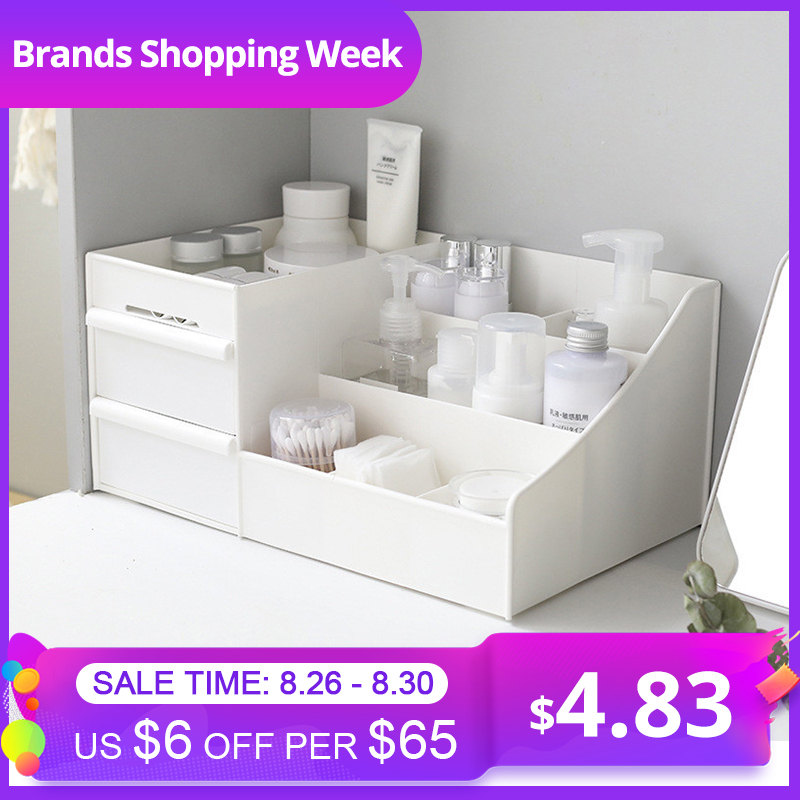 Makeup-Organizer Rack House-Container Cosmetic-Storage-Box Drawer Dressing-Table Skin-Care