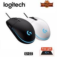 Original Logitech G102 PRODIGY Wired Gaming Mouse Optical 6 000DPI 16.8M Color LED Customizing6 Support Desktop/ Laptop Windows