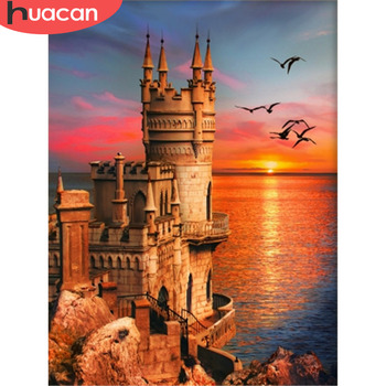 HUACAN DIY Sunset Diamond Painting Full Square Drill 5D Kit Embroidery Mosaic Scenery Cross Stitch Rhinestone Wall Art - discount item  33% OFF Arts,Crafts & Sewing