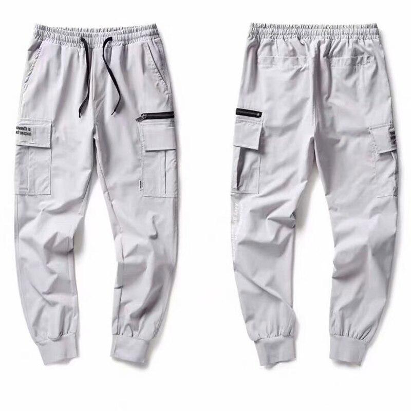 New Harajuku Men Clothing Fashion Streetwear Elastic Waist Harem Pants Men Ankle-Length Pants Casual joggers Sports Trousers men