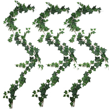 3Pcs Artificial Plants Ivy Wedding Garland Greenery Fake Hanging Foliage Vine for Wedding Garden Wall Decor artificial ivy green leaf wicker garland plants vine fake foliage home garden leaves osier decor fake rattan string grass cactus
