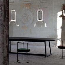 Lámpara colgante de cristal con diseño italiano para sala de estar, luminaria colgante de gran tamaño para cocina y comedor