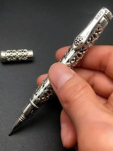 Ballpoint-Pen Silver Thai Hollow-Carved-Business Female Elegant And Vintage S925 High-Quality