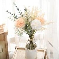 Weiß Künstliche Blumen Löwenzahn Großen Blumenstrauß Autum Seide Kunststoff Gefälschte Blume für Home Hochzeit Dekoration Wohnzimmer Arrangieren