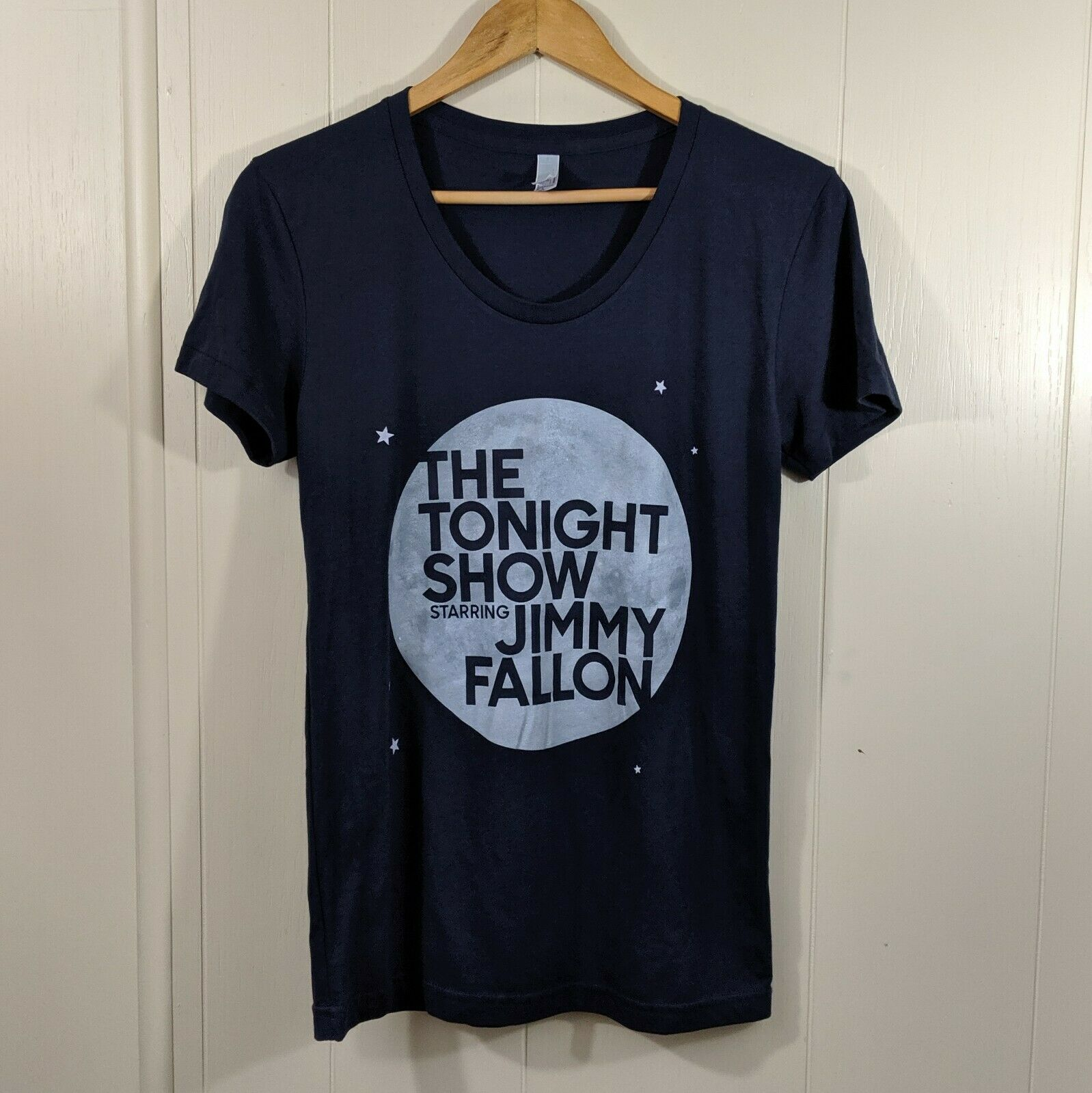 <font><b>The</b></font> <font><b>Tonight</b></font> <font><b>Show</b></font> Starring Jimmy Fallon Womens T-Shirt Tee Blue Sz L image