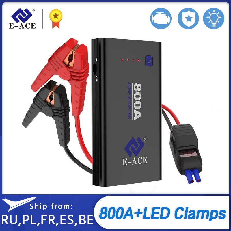 E-ACE Car <font><b>Jump</b></font> <font><b>Starter</b></font> Battery Power Bank <font><b>800A</b></font> 12V Emergency Portable Booster Battery Starting Device Booster With USB image