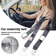 Safety Belt with Buckle Clip Pregnant Car Seat Accessories Universal Adjustable Seatbelt Extender for Women