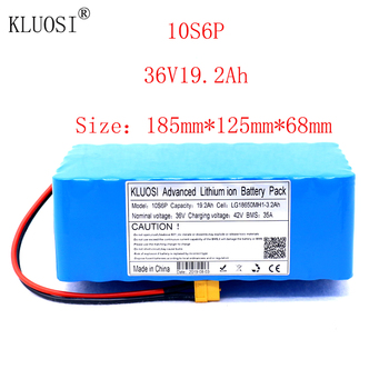 KLUOSI 36V 10S6P 19.2Ah 1200W High Power Capacity Li-ion Battery Pack for Electric Car Bicycle Motor Scooter 35A Balanced BMS