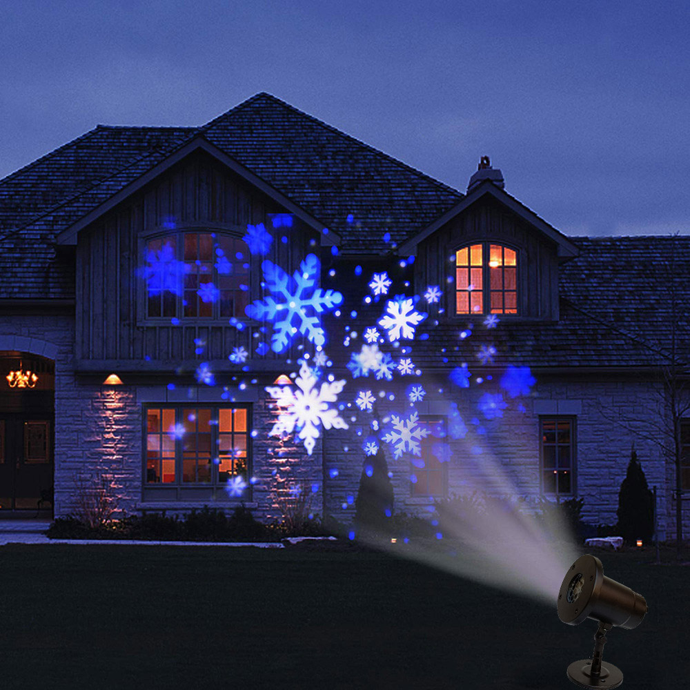 Waterproof Projector Light Snowflake Laser LED Stage Light Outdoor Snow Garden Landscape Lamp Party Favor Xmas Christmas Decor