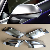 4pcs/set For AUDI A7 S7 RS7 4G 2011 2017 ABS Chrome Side Wing Rearview Rear View Mirror Replacement Cover Trim Case Shell