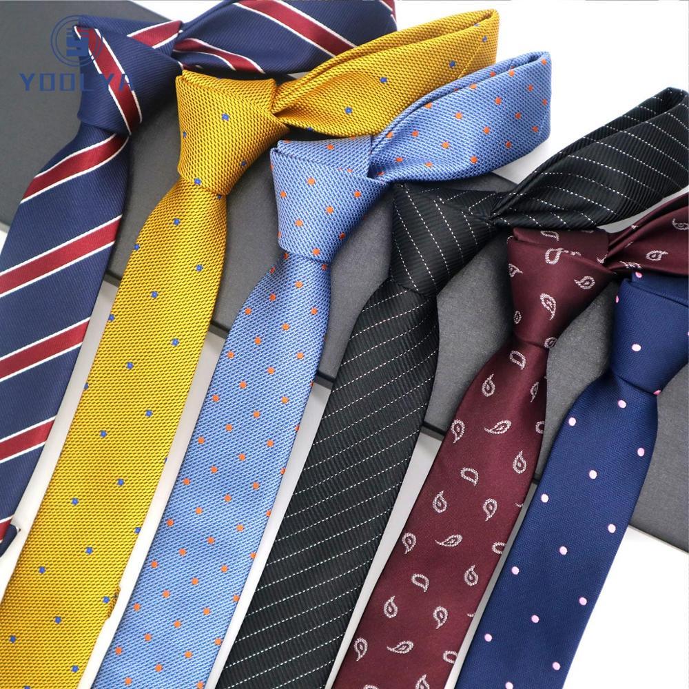 15 Pattern 5CM Silk Men's Skinny Ties Stripes Dots Paisley Floral Jacquard Narrow Necktie Groon Wedding Business Party Gravata