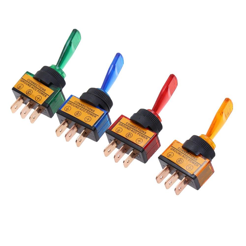 Interruptor de alternância automotivo 3 pino ligado-fora com luz conduzida da lâmpada 12 v 20a