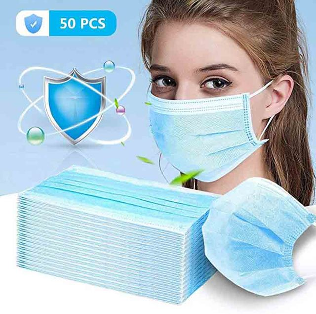 Non Woven Disposable Face Mask Activated Carbon Filter Windproof  for Flu Face Masks Anti-dust Safe Breathable Mouth Mask 1